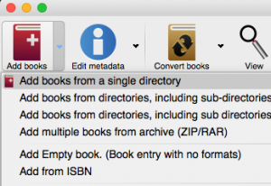 Importing Books in Calibre