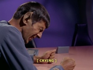 spock crying